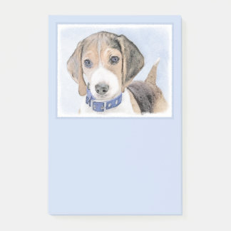 Beagle Painting - Cute Original Dog Art Post-it Notes