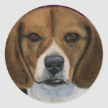 Beagle Painting - Dog Breed Art Round Sticker