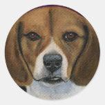Beagle Painting - Dog Breed Art Classic Round Sticker