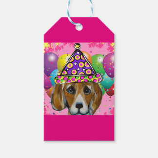 Beagle Party Dog Gift Tags