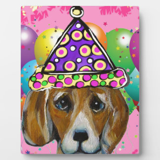 Beagle Party Dog Plaque
