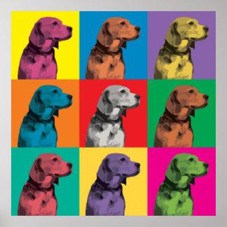 Beagle Pop-Art Poster