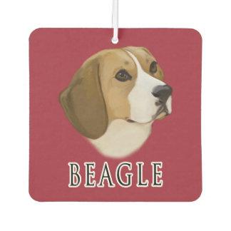 Beagle Portrait Car Air Freshener