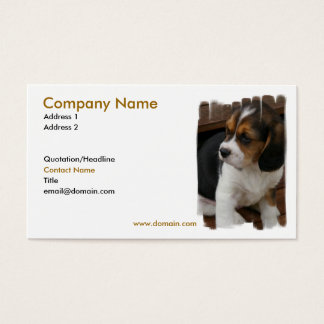 Beagle Pup Business Card