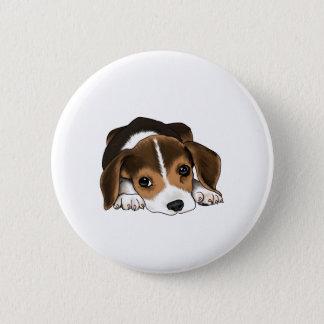 Beagle Puppy 6 Cm Round Badge