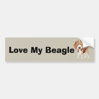 Beagle Puppy Cartoon Bumper Sticker