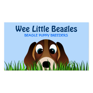 Beagle Puppy Dog Breeders Business Cards Business Card Template