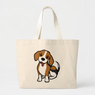 Beagle Puppy Dog Cartoon Love Beagles Large Tote Bag