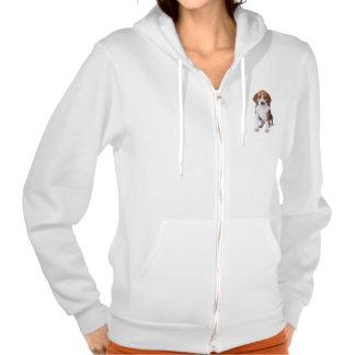 Beagle Puppy Dog Ladies Zipper Sweatshirt