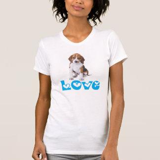 Beagle Puppy Dog Love & Hearts Ladies T-Shirt