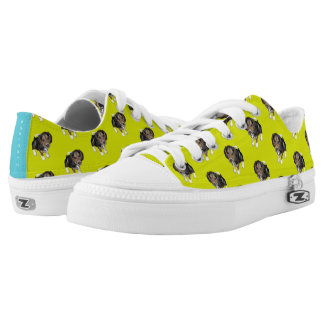 Beagle Puppy #GOFORTH Chartreuse w/ Turquoise Low Tops