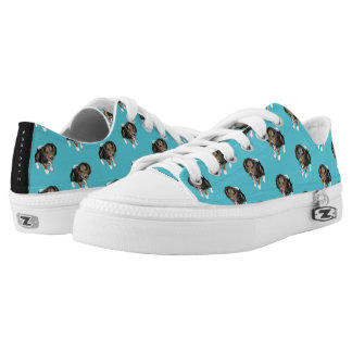Beagle Puppy #GOFORTH Turquoise Low Tops