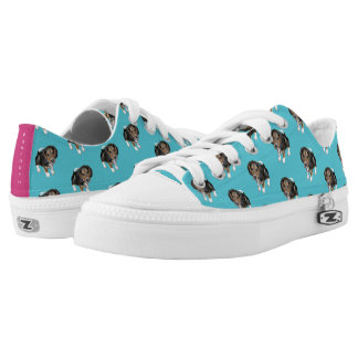 Beagle Puppy #GOFORTH Turquoise w/ Pink Low Tops