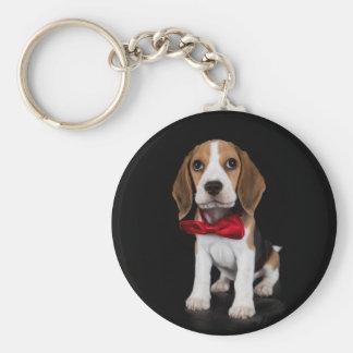 Beagle puppy keychain