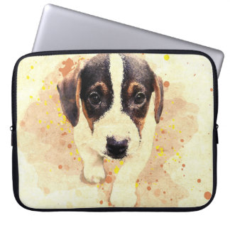 Beagle puppy laptop sleeve