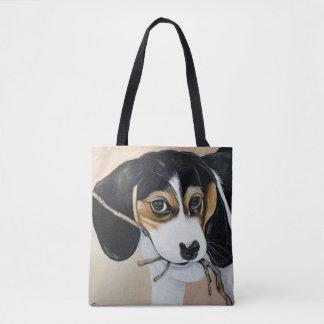 Beagle Puppy Tote Bag