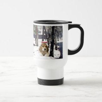 Beagle Regal Snow Travel Mug