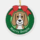 Beagle Round Ceramic Decoration