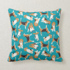 beagle scatter blue cushion