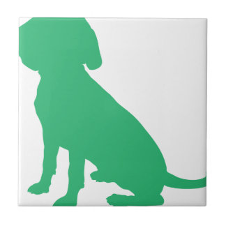 Beagle Silhouette Ceramic Tile