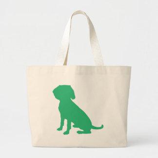 Beagle Silhouette Large Tote Bag