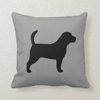 Beagle Silhouette Throw Pillow