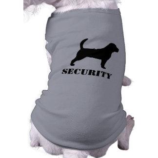 Beagle Silhouette with Custom Text Sleeveless Dog Shirt