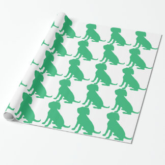 Beagle Silhouette Wrapping Paper