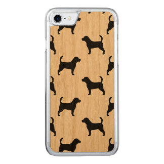 Beagle Silhouettes Pattern Carved iPhone 8/7 Case