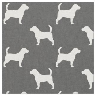 Beagle Silhouettes Pattern Fabric