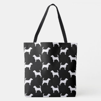 Beagle Silhouettes Pattern Tote Bag