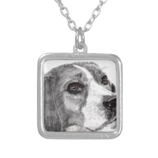 Beagle Silver Plated Necklace