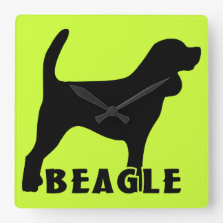 Beagle Square Wall Clock