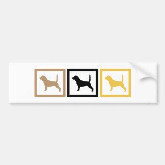 Beagle Squares Bumper Sticker
