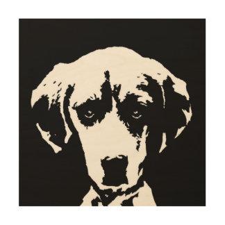 """Beagle Stencil Wood 12""""x12"""" Wall Art"""
