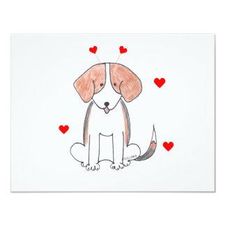 Beagle Valentine Ears Card