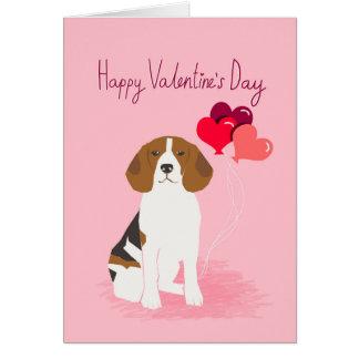 Beagle Valentines day Love card