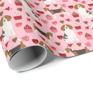 Beagle Valentines Gift Wrap