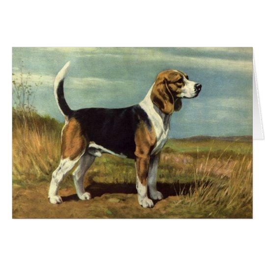Beagle Vintage Greeting Card
