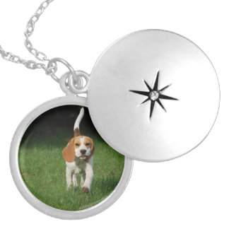 beagle walking.png locket necklace