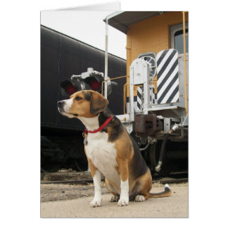 Beagle Welcome Home Greeting Card - Train Depot