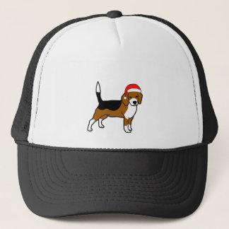 Beagle with Santa hat