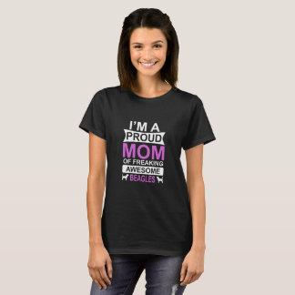 Beagles Dog Proud Mom T-Shirt