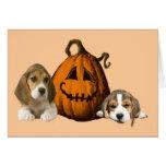 Beagles Halloween Greeting Card