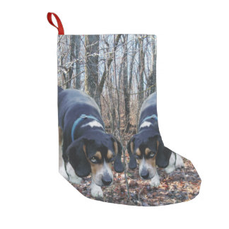 Beagles Hunting in the Woods Christmas Stocking