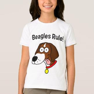 """""""Beagles Rule!"""" Girl's Ringer T-Shirt"""