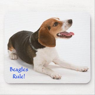 Beagles Rule Happy Beagle Mousepad