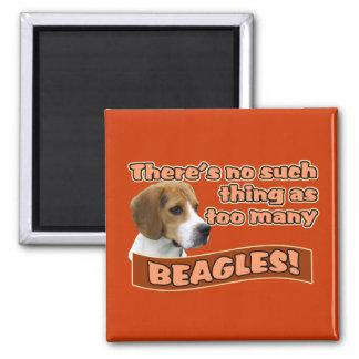BEAGLES SQUARE MAGNET