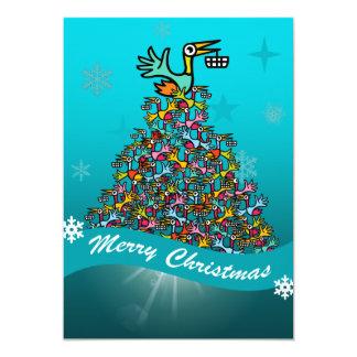 Beakanlegs Christmas Card 13 Cm X 18 Cm Invitation Card