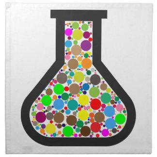 Beaker with Rainbow Chemicals Napkin